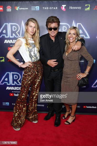 Christian Wilkins, Richard Wilkins and Nicola Dale attend the 2020 ARIA Awards at The Star on November 25, 2020 in Sydney, Australia.