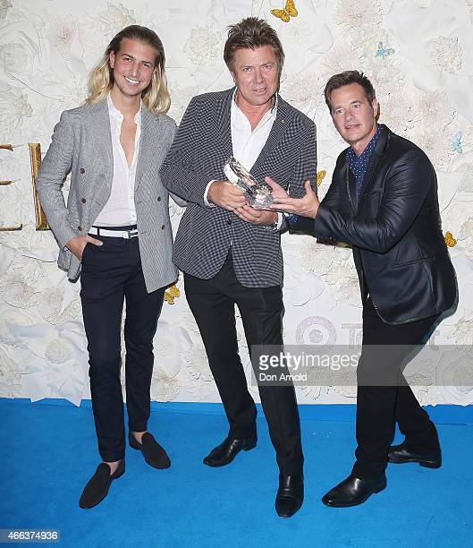 Christian Wilkins Richard Wilkins and Richard Reid arrive at the Australian premiere of Disney's Cinderella at State Theatre on March 15 2015 in...