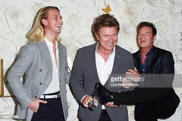 Christian Wilkins Richard Wilkins and Richard Reid arrive at the Australian premiere of Disney's Cinderella at the State Theatre on March 15 2015 in...