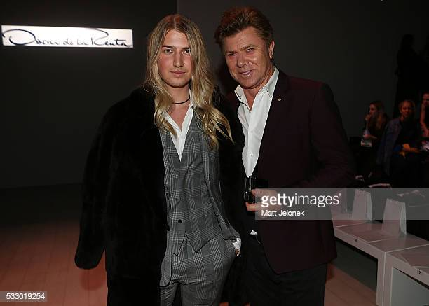 Christian Wilkins Richard Wilkins attends the Oscar de la Renta show presented by Etihad Airways at MercedesBenz Fashion Week Resort 17 Collections...
