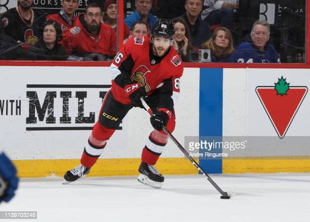 Christian Wolanin of the Ottawa Senators skates against the Toronto Maple Leafs at Canadian Tire Centre on March 30 2019 in Ottawa Ontario Canada