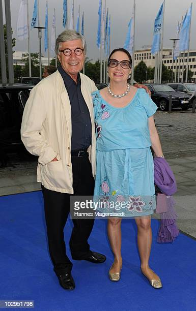 Christian Wolff and his wife Marina attend the Bavarian Sport Award 2010 at the International Congress Center Munich on July 17 2010 in Munich Germany