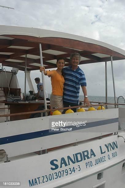 Christian Wolff Henriette RichterRöhl Dreharbeiten zum ZDFFilm Eine Mutter zum Geburtstag Puerto Morelos/Mexico/Golf von Mexico/Mittelamerika...