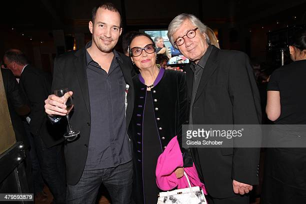 Christian Wolff with wife Marina and son Patrick attend the NDF After Work Presse Cocktail at Parkcafe on March 19 2014 in Munich Germany