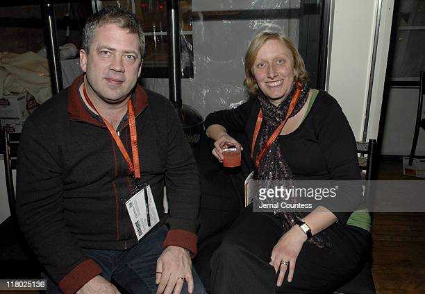 Christian Wolly, Executive Producer of Clubland with Rosemery Blythe, Director of Clubland