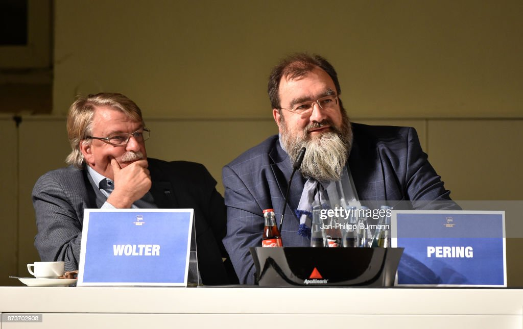 Christian Wolter and Ingmar Pering of Hertha BSC bei Hertha BSC im Dialog on november 13, 2017 in Berlin, Germany.