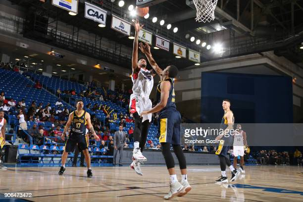 Christian Wood of the Delaware 87ers shoots the ball against the Fort Wayne Mad Ants during a GLeague at the Bob Carpenter Center in Newark Delaware...