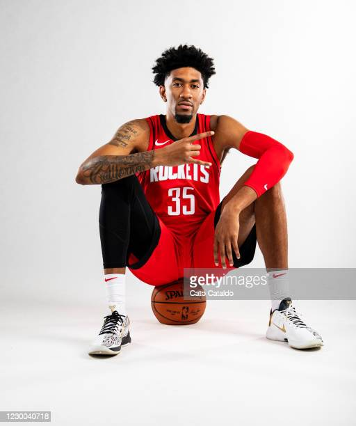 Christian Wood of the Houston Rockets poses for a portrait during Content Day at the Toyota Center on December 8, 2020 in Houston, Texas. NOTE TO...