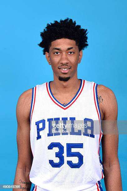 Christian Wood of the Philadelphia 76ers poses for a photo during media day on September 28 2015 in Galloway New Jersey NOTE TO USER User expressly...