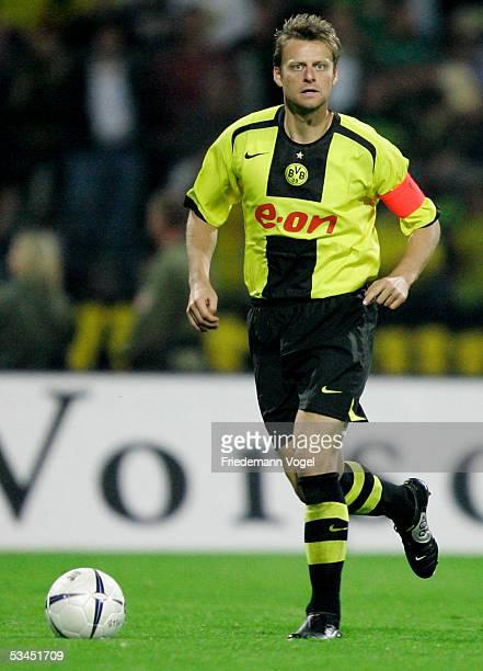 Christian Worns in action during the DFB German Cup match between Eintracht Braunschweig and Borussia Dortmund at the Stadium Hamburger Strasse on...