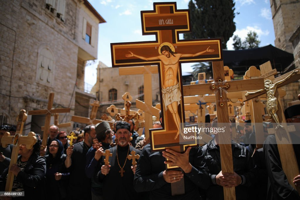 Image result for photos Good Friday procession along the Via Dolorosa in Jerusalem jesus