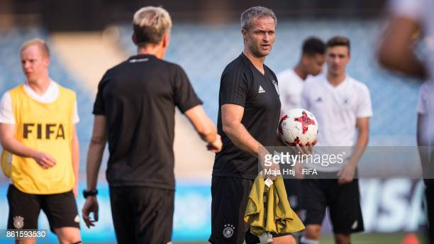 Christian Wueck of Germany looks on during a training ahead of the FIFA U17 World Cup India 2017 tournament at on October 15 2017 at Jawaharlal Nehru...
