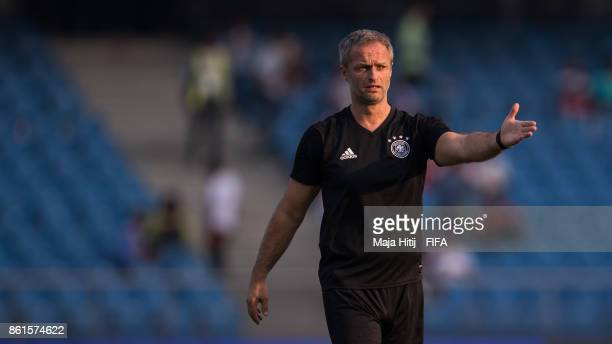 Christian Wueck of Germany stands during a training ahead of the FIFA U17 World Cup India 2017 tournament at on October 15 2017 at Jawaharlal Nehru...