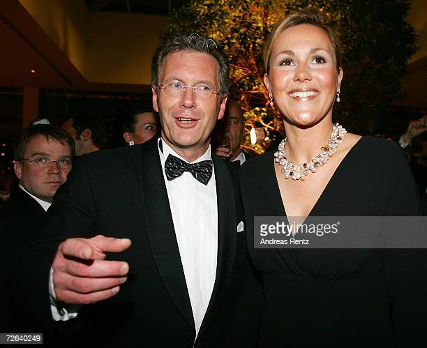 Christian Wulff and girlfriend Bettina Koerner attend the German Bundespresseball on November 24 2006 in Berlin Germany