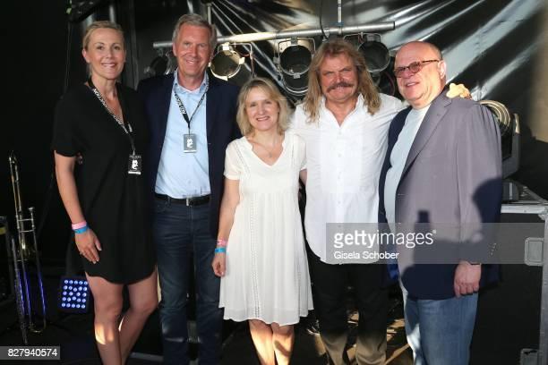 Christian Wulff and his wife Bettina Wulff Leslie Mandoki and his wife Eva Mandoki and Joel Katz attend the Man Doki Soulmates concert during the...