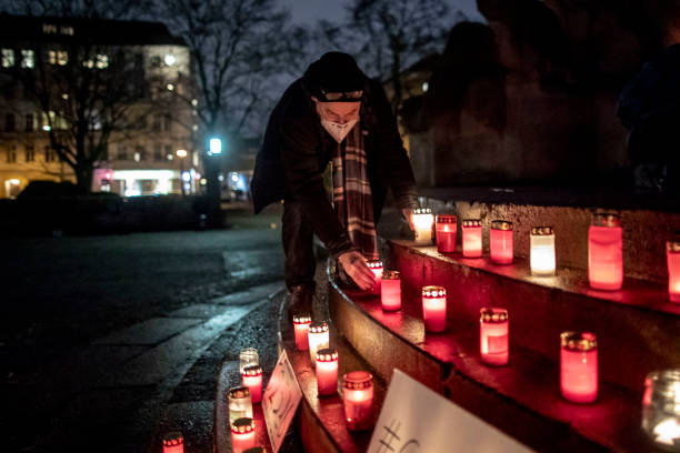 DEU: Candle Light Memorial For COVID-19 Victims