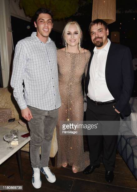 Christian Yelich Lindsey Vonn and Dylan Kildow attend the After Party for the premiere of HBO's Lindsey Vonn The Final Season at Soho House on...