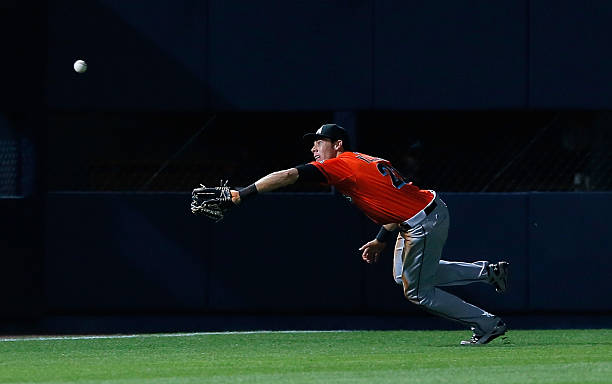 Christian Yelich #21 of the Miami Marlins