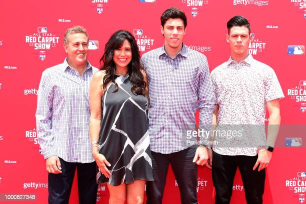 Christian Yelich of the Milwaukee Brewers and the National League and guests attend the 89th MLB AllStar Game presented by MasterCard red carpet at...
