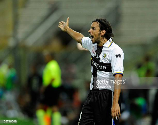 Christian Zaccardo of Parma FC during the Serie A match between Parma and Brescia at Stadio Ennio Tardini on August 29 2010 in Parma Italy