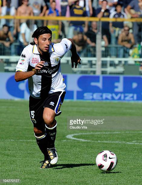 Christian Zaccardo of Parma FC during the Serie A match between Parma and Genoa at Stadio Ennio Tardini on September 19 2010 in Parma Italy