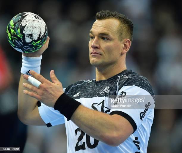 Christian Zeitz of Kiel in action during the DKB Handball Bundesliga game between THW Kiel and MT Melsungen at Sparkassen Arena on February 22 2017...