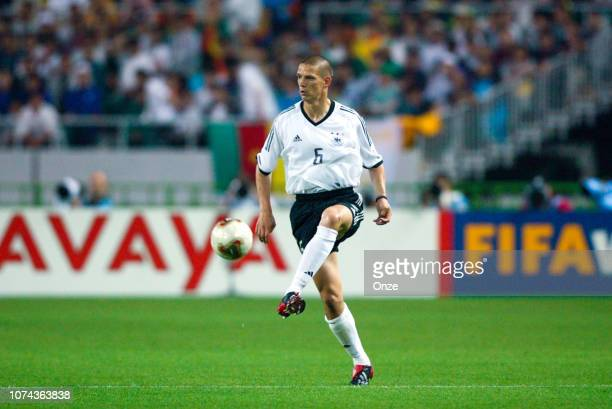 Christian ZIEGE of Germany during the FIFA World Cup match between Cameroon and Germany on June 11 2002 in Ecopa de Shizuoka stadium Japan
