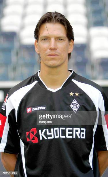 Christian Ziege poses during the team presentation of Borussia Monchengladbach for the Bundesliga season 2005 2006 on July 7 2005 in Monchengladbach...