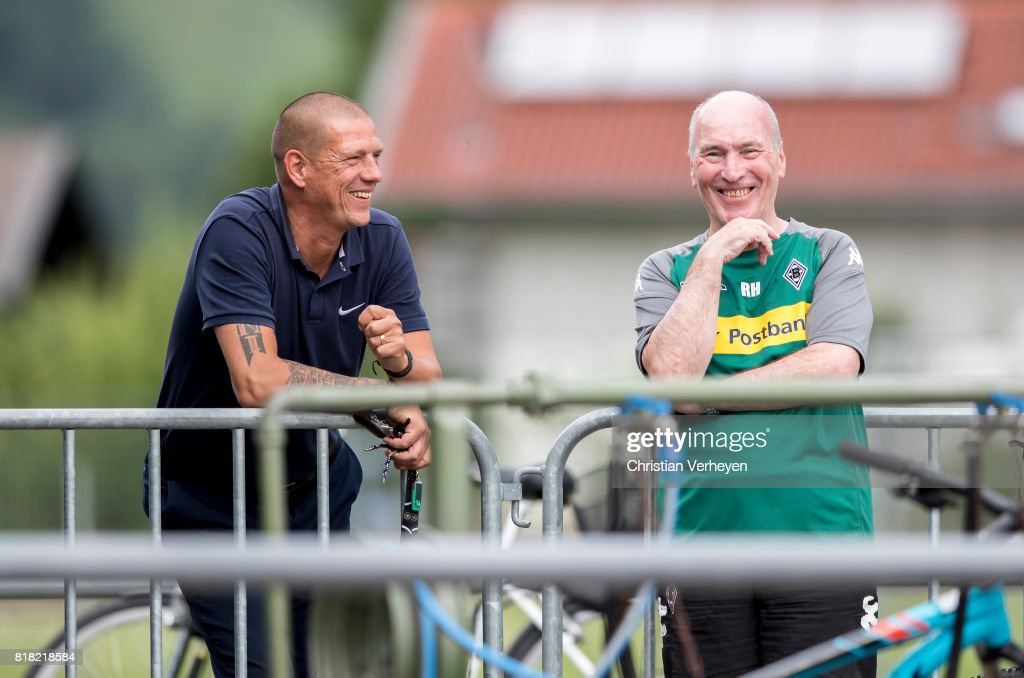 Christian Ziege visit a training session at the Training Camp of Borussia Moenchengladbach on July 18, 2017 in Rottach-Egern, Germany.