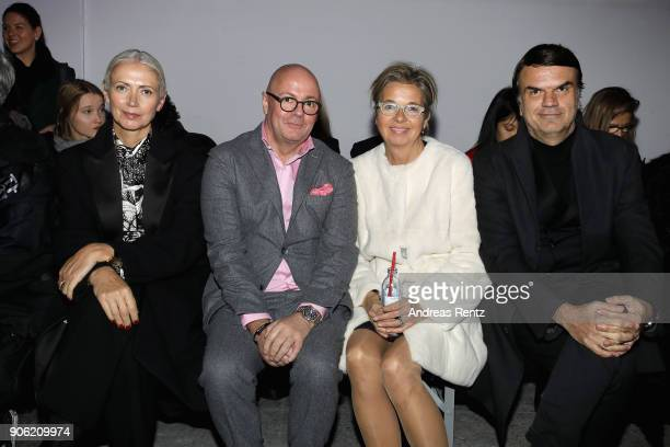Christiana Arp Andre Maeder Inga Griese and Andre Pollmann attend the Odeeh Defile during 'Der Berliner Salon' AW 18/19 on January 17 2018 in Berlin...
