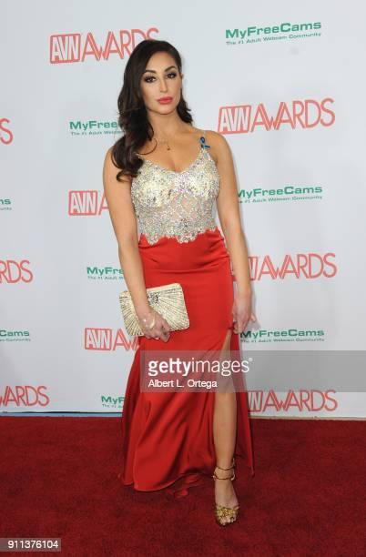 Christiana Cinn attends the 2018 Adult Video News Awards held at Hard Rock Hotel Casino on January 27 2018 in Las Vegas Nevada