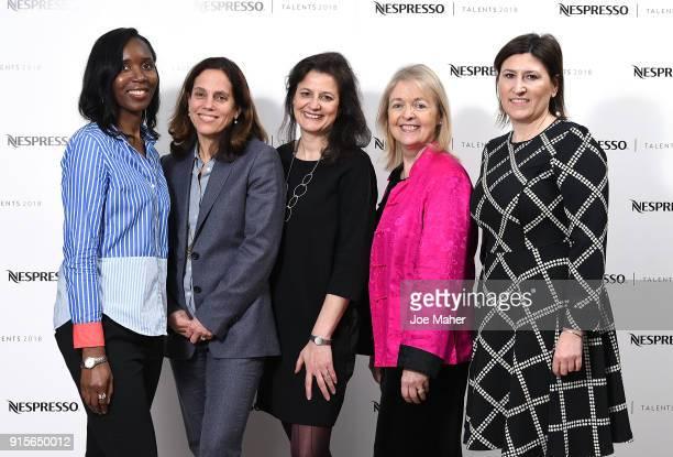 Christiana Ebohon-Green, Elizabeth Karlsen, Caroline Norbury MBE, Kate Kinninmont MBE and Eva Pederzini are pictured to launchÊThe Nespresso Talents...