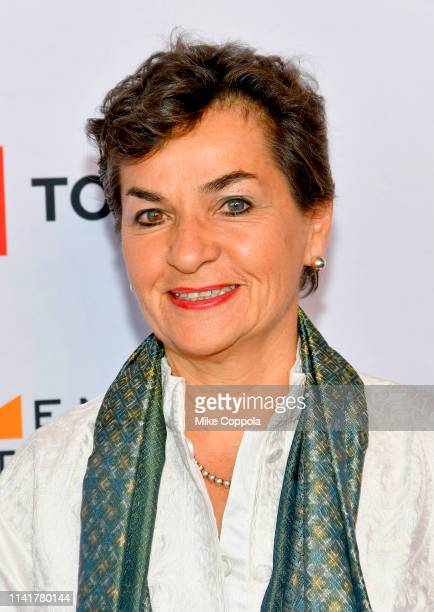 Christiana Figueres attends the 10th Anniversary Women In The World Summit at David H Koch Theater at Lincoln Center on April 10 2019 in New York City