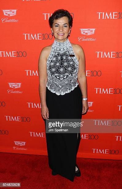 Christiana Figueres attends the 2016 Time 100 Gala at Frederick P Rose Hall Jazz at Lincoln Center on April 26 2016 in New York City