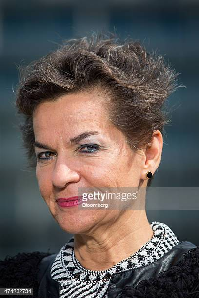 Christiana Figueres, executive secretary of the United Nations framework convention on climate change, poses for a photograph ahead of a Bloomberg...