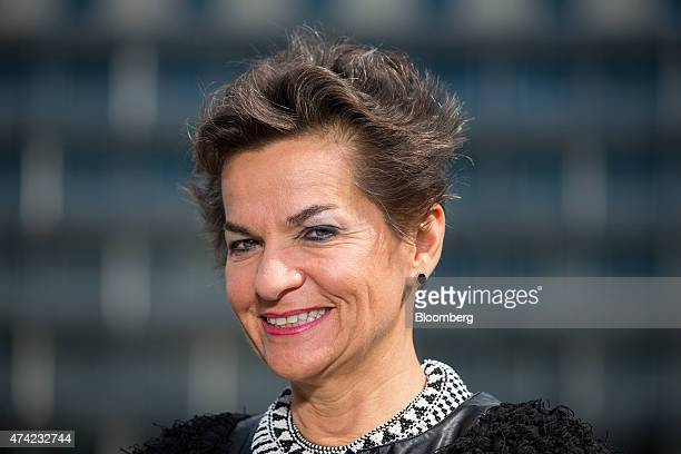 Christiana Figueres executive secretary of the United Nations framework convention on climate change poses for a photograph ahead of a Bloomberg...