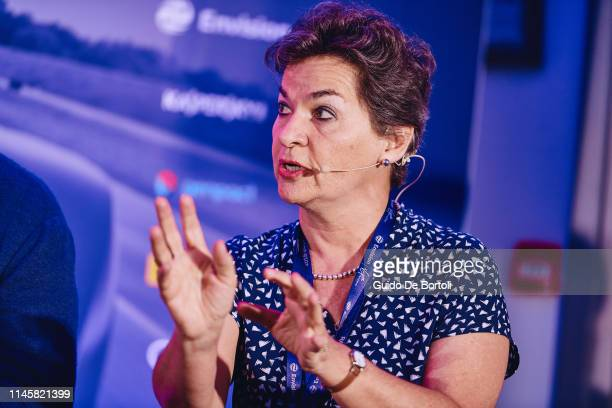 """Christiana Figueres, former Executive Secretary UN Framework Convention on Climate Change and Formula E Advisory Board Member speaks at the """"Racing..."""