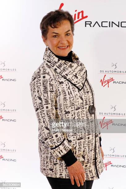 Christiana Figueres Former UN Secretary attends the DS Virgin Racing Paris Innovation Summit Formula EPrix on April 28 2018 in Paris France