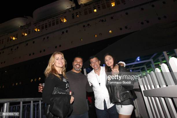 Christiana Leucas Al Coronel Sal Velez Jr and guest attend the Queen Mary's Dark Harbor Media VIP Preview Event on September 28 2017 in Long Beach...