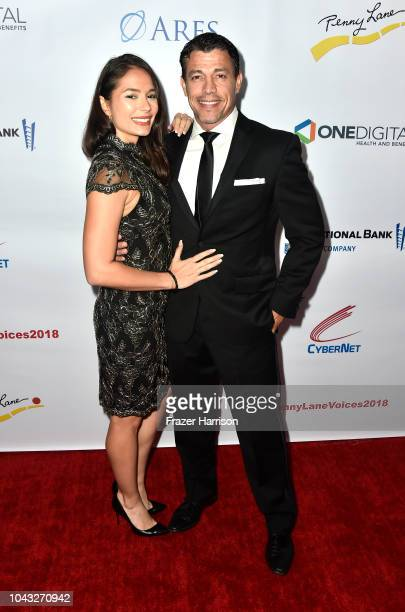 Christiana Leucas and actor Al Coronel attend the 18th Annual Voices Of Our Children Fundraiser Gala And Awards Arrivals at Lowes Hollywood Hotel on...