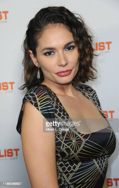 Christiana Leucas attends the INFOlistcom's 2019 Holiday Extravaganza held at SkyBar at the Mondrian Los Angeles on December 11 2019 in West...