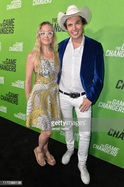 Christiana Wyly and Kimbal Musk arrive at the LA Premiere of 'The Game Changers' at ArcLight Hollywood on September 04 2019 in Hollywood California