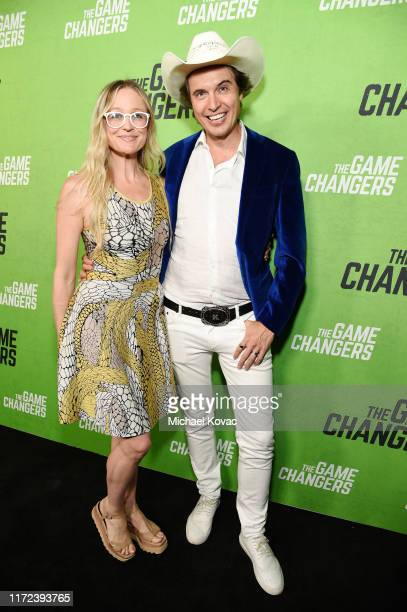 Christiana Wyly and Kimbal Musk attend the Los Angeles Premiere of The Game Changers Documentary at ArcLight Hollywood on September 04 2019 in...