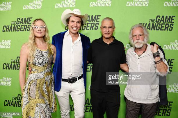 Christiana Wyly Kimbal Musk Director Louie Psihoyos and Bob Weir attend the Los Angeles Premiere of The Game Changers Documentary at ArcLight...