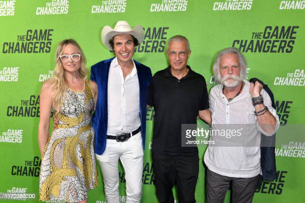 Christiana Wyly Kimbal Musk Louie Psihoyos and Bob Weir arrive at the LA Premiere of 'The Game Changers' at ArcLight Hollywood on September 04 2019...