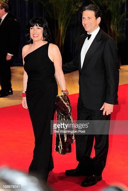 Christiane Amanpour and husband Jamie Rubin arrive at the annual White House Correspondents Association dinner at the Washington Hilton in Washington...