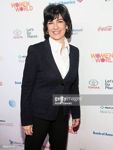 Christiane Amanpour attends Women in the World Summit 2013 on April 4, 2013 in New York, United States.