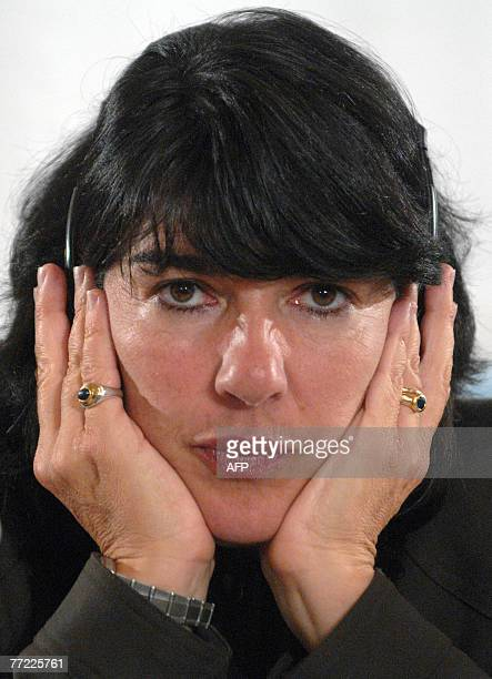 Christiane Amanpour Chief International correspondent of CNN attends the second day of the 11th Forum 2000 Conference focusing on freedom and...