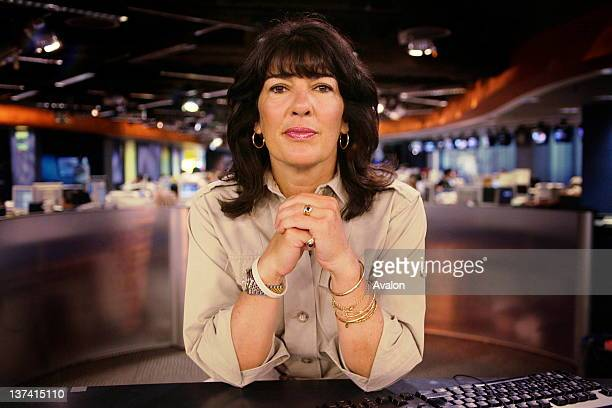 Christiane Amanpour CNN's chief international correspondent at CNN's london studio
