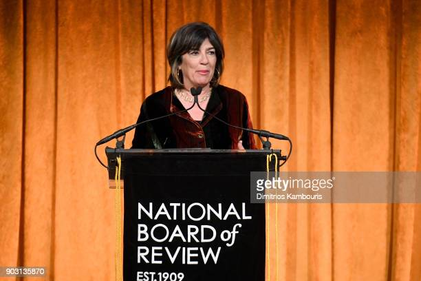Christiane Amanpour speaks onstage during the National Board of Review Annual Awards Gala at Cipriani 42nd Street on January 9 2018 in New York City